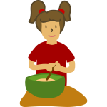 Girl with mixing bowl