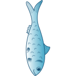 Blue fish vector graphics