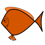 Orange outlined fish