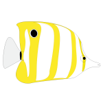 Yellow tropical fish image