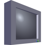 3d image of a television set