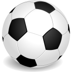 Vector clip art of a soccer ball