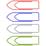 Vector clip art of paper clips