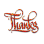 Thanks sign vector clip art
