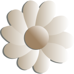 Vector clip art of flower in pale shades of brown