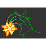 Sun flower vector graphics