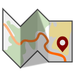 Vector image of folded map
