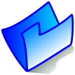 Vector image of my computer blue folder icon