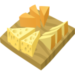 Vector illustration of cheese platter serving