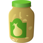 Jar of onion sauce