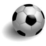 Soccer ball with shadow vector drawing