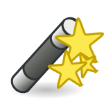 Wand with Stars Vector Graphics