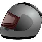 Vector clip art of full-face helmet