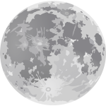 Grayscale full Moon drawing