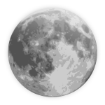 Vector illustration of weather forecast color symbol for full moon