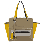funky tan yellow bag