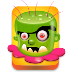 Funny game monster vector image