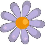 Orange and purple flower illustration