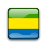 Country flag button for Gabon
