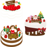 Three Christmas cakes