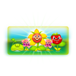 Vector graphics of happy flowers cartoon drawing,