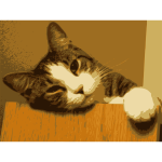 Relaxed cat just woken up vector image