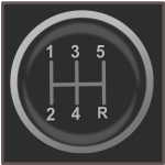 Gear shift knob vector icon