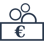 Vector drawing of money exchange sign
