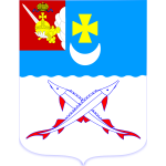 Vector drawing of coat of arms of Belozersk town