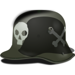 German army helmet vector image