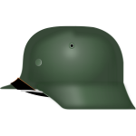 Vector graphics of German Stahlhelm from World War II