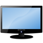 LCD widescreen monitor vector drawing