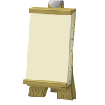 Vector image of artist's board on wooden stand