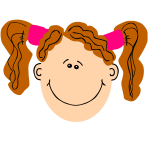 girl ginger pigtails