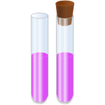 Vector graphics of two glass tubes with liquid