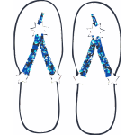 Vector image of sandals trimmed with star and glitter