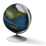 Desk globe vector graphics