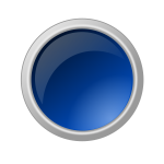Glossy blue button vector graphics
