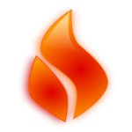 Vector clip art of flame