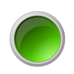 Glossy green button vector illustration