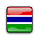 Gambia country flag button