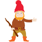 Gnome smiling vector clip art
