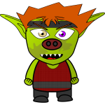 Cartoon mad goblin