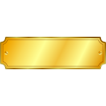 Vector image of shiny gold plaquette