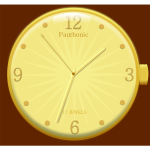 Golden watch vector image