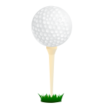 Vector graphics of golf ball