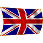 British flag in wind vector illustration