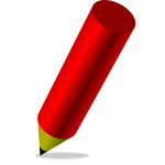 Fat red pencil