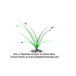 Vector illustration of wide growing grass patch