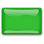 Gloss green square button vector clip art